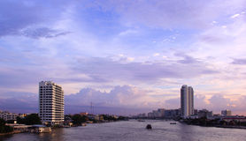 River in Bangkok city Royalty Free Stock Photo