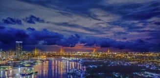 River in Bangkok city Royalty Free Stock Image