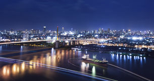 River in Bangkok city Stock Photo