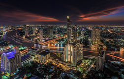 River in Bangkok city Royalty Free Stock Photos