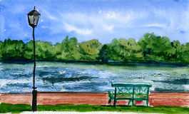River bank Vector Illustration