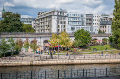 River Bank  in Berlin Stock Photography