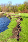 River Bank Erosion Illinois Royalty Free Stock Photography
