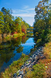 River bank in the Fall Royalty Free Stock Photo