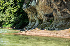 River Bank. The river at the foot of the mountain royalty free stock photos