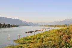 River bank at sunset Royalty Free Stock Photo