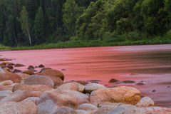 River Bank at sunset stock photo