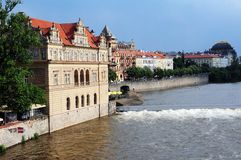 River bank  of the Vltava Prague Royalty Free Stock Images