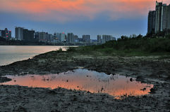 The River Bank in Zhuzhou Stock Photo
