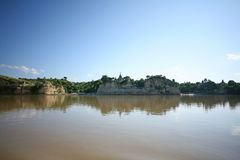 River banks in Burma stock photography