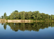 River banks of Desna Royalty Free Stock Images