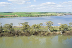 River Banks at Young Husband, Murray River, South Australia Royalty Free Stock Photography