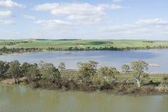 River Banks at Young Husband, Murray River, South Australia Stock Photography