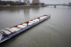 River Barge royalty free stock image