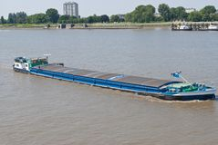 River barge with cargo Royalty Free Stock Images