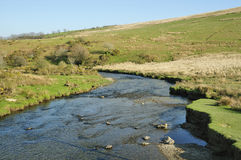 River Barle at Landacre Bridge Stock Image