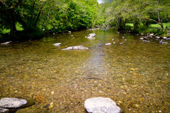 The River Barle from Tarr Steps in Devon Royalty Free Stock Photography