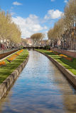 River Basse through Perpignan Royalty Free Stock Photography