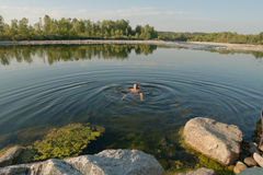 River bath Royalty Free Stock Photo
