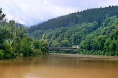 The river  in Bavaria Royalty Free Stock Images