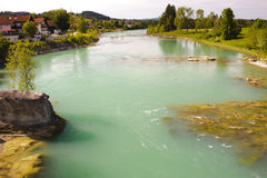 River in bavaria Royalty Free Stock Image