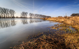 River bay. At the beginning of spring, Gorzow Wielkopolski, Poland Royalty Free Stock Images