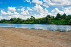 River beach Stock Image
