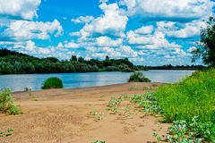 River beach Royalty Free Stock Photography