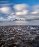 River at the beach. After a heavy downpour little rivers appear at the Dingle beaches Royalty Free Stock Photography