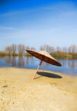 River beach in the spring. Stock Photography