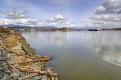 River beach at springtime Stock Photos