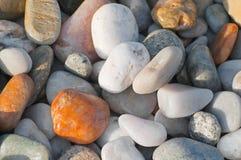 River or beach stones background, texture Stock Photos