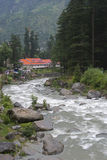 River Beas. The river Beas flowing through Manali , Himachal Pradesh , India Stock Image