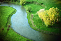 River in a beautiful green nature reserve Royalty Free Stock Photography