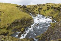 River in beautiful icelandic landscape near Skogafoss, Iceland stock image