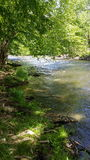 River. Beautiful river shot taken near Gatlinburg Tennessee Stock Photos