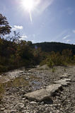 River Bed. In the Texas hill country in the fall Stock Images