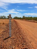 Dry river bed depth gauge in outback Australia Stock Photography