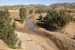 River bed, Ethiopia. A river drying up exposing the river bed, Ethiopia Royalty Free Stock Photography