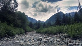 River bed. In the mountains royalty free stock image
