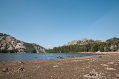 River bed in mountains of Corsica Royalty Free Stock Photos