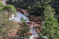 River bed Tinto, Huelva, Andalusia, Spain. Royalty Free Stock Images