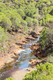 River bed Tinto, Huelva, Andalusia, Spain. Stock Photography