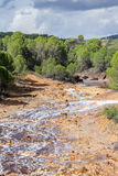 River bed Tinto, Huelva, Andalusia, Spain. Stock Image
