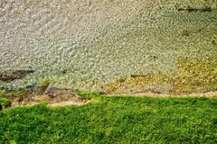 River bed view. Top view with use of a drone of a river bed Stock Photography