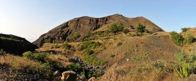 River bed through Volcano base Stock Photo