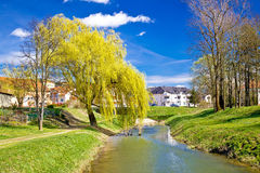 River Bednja in Ludbreg springtime view Stock Photography