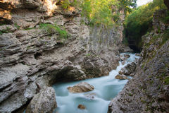 River Belaya is  in  canyon Royalty Free Stock Photo
