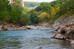 River Belaya is in Western Caucasus Royalty Free Stock Photography