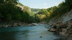 River Belaya, Western Caucasus, Russia. stock footage